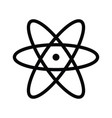 atom icon and atom symbols vector image
