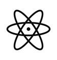 atom icon and atom symbols vector image