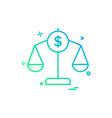 balance finance money scale icon design vector image vector image