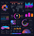 business infographics elements charts and graphs vector image vector image