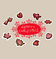 christmas bakery with gingerbread - decorative vector image vector image