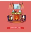 Christmas time design vector image