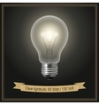 Clear lightbulb vector image
