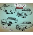 collection retro cars vector image