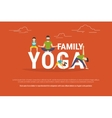 Concept of family yoga vector image