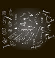 cosmetics perfume fashion beauty chalk vector image vector image