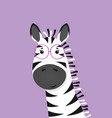cute zebra with glasses poster for baroom vector image