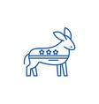 democratic ass line icon concept democratic ass vector image vector image