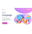 digital marketing concept landing page vector image