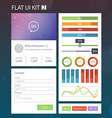 Flat User Interface Kit for web and mobile 2 vector image