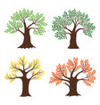 four seasons trees seasonal tree vector image vector image