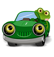 Frog in the car vector image vector image