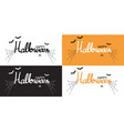 happy halloween brush pen lettering and vector image