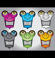 happy smiling robot face design vector image vector image