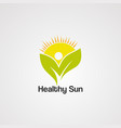 healthy sun logo iconelementand template vector image vector image