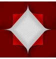 Hole in red sheet of paper EPS 10 vector image