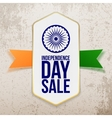 Independence Day Sale Tag with Ribbon vector image vector image