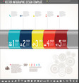infographic design template colorful design 8 vector image vector image