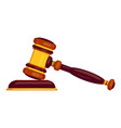 judge hammer icon cartoon style vector image