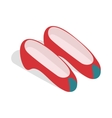 Korean national shoes icon isometric 3d style vector image vector image