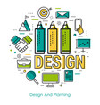 line art - design and planning vector image vector image
