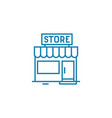 local store linear icon concept local store line vector image vector image