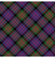 Macdonald tartan kilt fabric diagonal texture vector image vector image