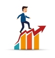 man business planning statistics success vector image