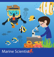 marine science researcher vector image vector image