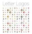 Mega set of various letter logos vector image