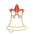 merry christmas bell decorative with bow vector image vector image