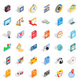 movie icons set isometric style vector image vector image