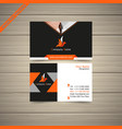 new model business card vector image vector image