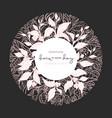 ornament organic tea in circle art design vector image