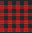 plaid seamless pattern red color vector image