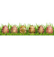 pysanky easter eggs vector image vector image