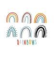 rainbow set childish print vector image