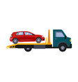 roadside assistance tow truck car vector image vector image