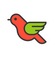robin bird merry christmas related icon set vector image