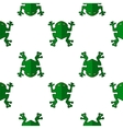 Seamless Cartoon Frog Pattern vector image vector image