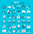 seo thin linear icons vector image