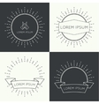 Set of vintage banners vector image vector image