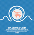 Shopping Cart sign icon Online buying button Blue vector image