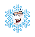 SnowFlake Emoticon Hey vector image vector image
