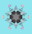 snowflake icon snowflake snowflake isolated on vector image