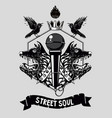 street soul music poster template hip-hop vector image