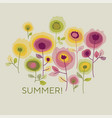 summer retro floral banner template vector image vector image