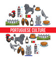 travel to portugal portuguese culture and symbols vector image vector image