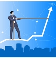 Trend taming business concept vector image vector image