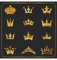 twelve different crowns icon element vector image